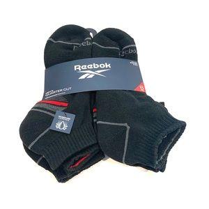 Rebook Men's Athletic Quarter Socks  6 Set